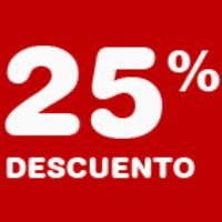 Código promocional 25% Descuento